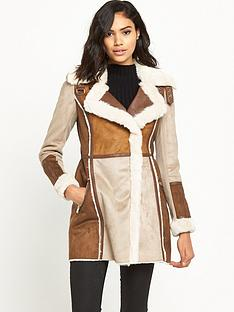 river-island-faux-shearling-suedette-coat