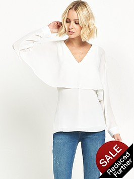 river-island-long-sleeve-cape-top-ivory