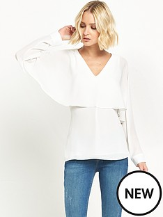 river-island-river-island-ivory-long-sleeve-cape-top