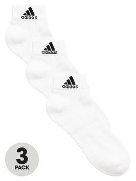 Adidas 3 Pack Ankle Socks