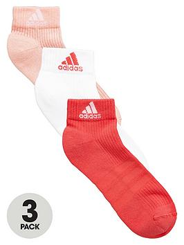 Adidas 3 Pack Performance Ankle Socks