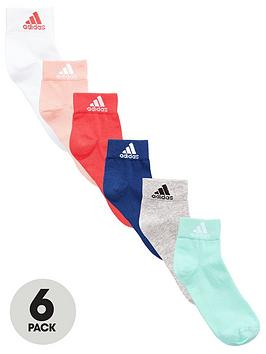 Adidas 6 Pack Ankle Socks