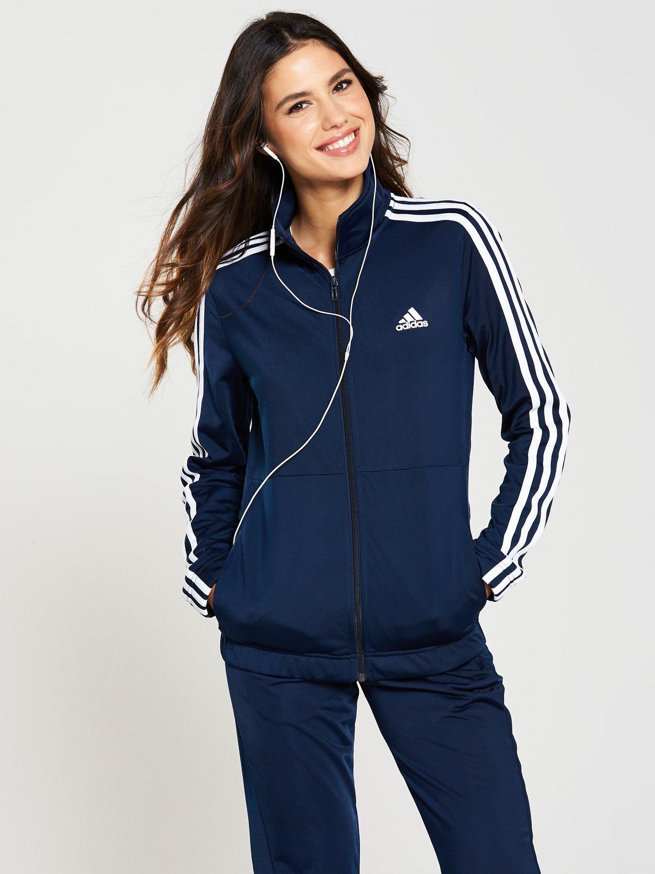 246e3feb54c adidas tracksuit womens adidas back 2 basics 3 stripe tracksuitnbsp