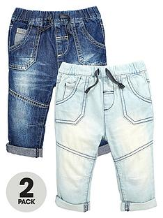 ladybird-baby-boys-denim-jeans-with-turn-up-detail-2-pack