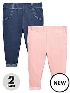 ladybird-baby-girls-2-pk-pink-amp-blue-jeggings