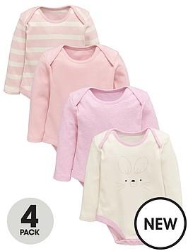 ladybird-baby-girls-pink-long-sleeve-bodysuits-4-pack