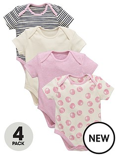 ladybird-baby-girls-4pk-ss-pink-bodysuits