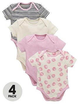 ladybird-baby-girls-pink-stripe-and-spot-bodysuits-4-pack