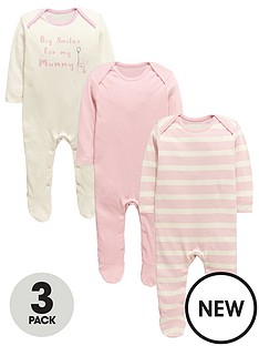 ladybird-baby-girls-pink-core-sleepsuitsnbsp3-pack