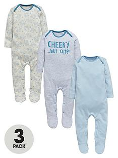 ladybird-baby-boys-cheeky-monkey-sleepsuitsnbsp3-pack