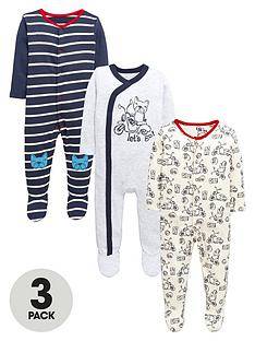 ladybird-baby-boys-stripe-and-scooter-sleepsuitsnbsp3-pack