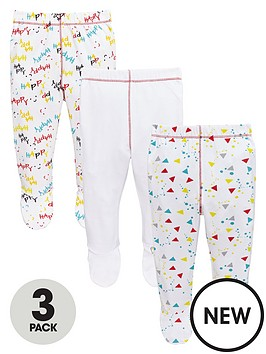 ladybird-baby-unisex-3pk-bear-and-slogan-footed-joggers