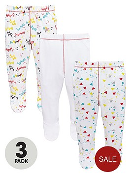 ladybird-baby-unisex-bear-and-slogan-footed-joggers-3-pack