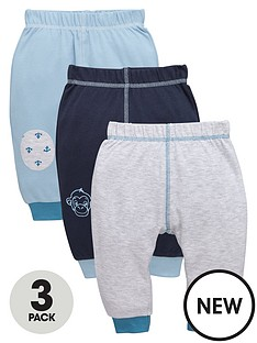 ladybird-baby-boys-interlock-monkey-and-anchor-joggers-3-pack
