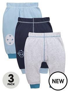 ladybird-baby-boys-interlock-monkey-and-anchor-joggers-3-pack