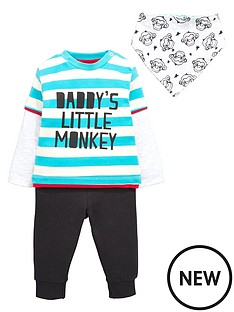 ladybird-baby-boys-monkey-t-shirt-joggers-and-bib-set-3-piece