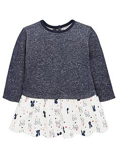 ladybird-baby-girls-bunny-print-mock-jumper-dress
