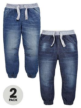 mini-v-by-very-boys-marl-ribbed-waist-cuffed-jeans-2-pack