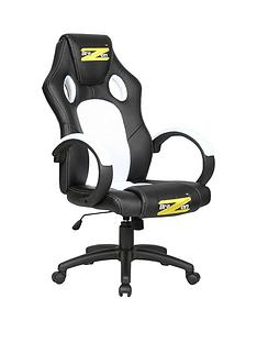 brazen shadow pc gaming chair black and white