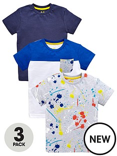 mini-v-by-very-boys-colour-block-paint-print-and-plain-t-shirts-3-pack