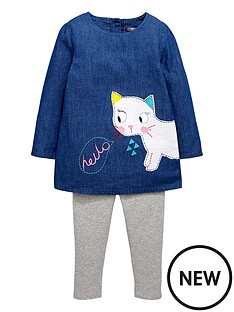 mini-v-by-very-girls-chambray-cat-appliquenbspdressnbspand-leggings-set