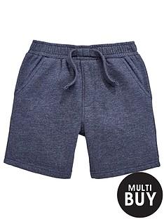 mini-v-by-very-boys-navy-marl-shorts