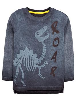 Mini V By Very Boys Roar Dino Long Sleeve TShirt