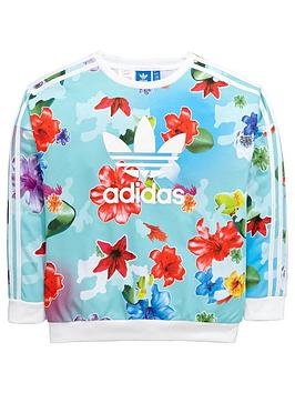 Adidas Originals Adidas Originals Older Girls Floral Sweat Top