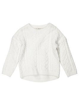 river-island-mini-girls-cream-cable-knit-jumper