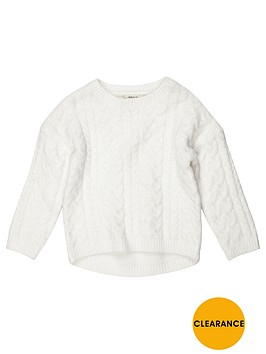 river-island-mini-girls-cream-cable-knit-jumper