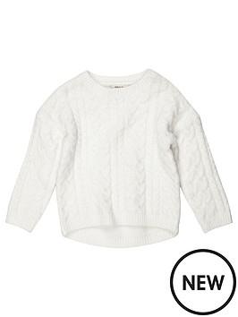 river-island-mini-mini-girls-cream-cable-knit-jumper