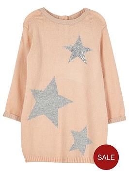 river-island-mini-girls-pink-star-knit-jumper-dress