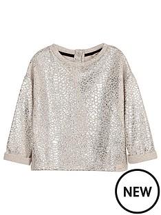 river-island-mini-mini-girls-cream-foil-slouch-sweatshirt