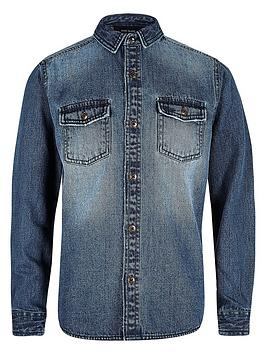 river-island-boys-mid-blue-wash-denim-shirt