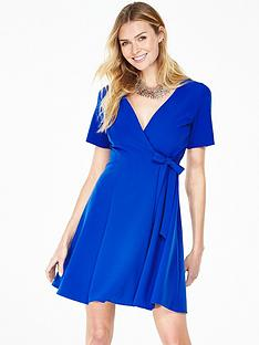 v-by-very-short-sleeve-wrap-dress