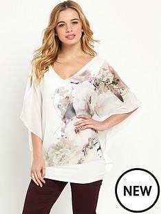 wallis-wallis-petite-floral-overlayer-top