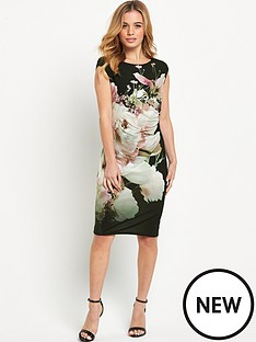 wallis-wallis-petite-floral-rouched-side