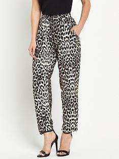 wallis-petite-animal-print-trouser