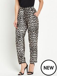 wallis-wallis-petite-animal-print-trouser