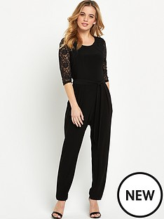wallis-petite-lace-sleeve-jumpsuit