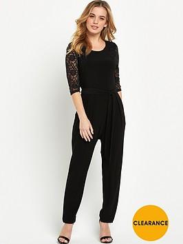 wallis-petite-lace-sleeve-jumpsuit