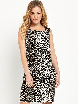 wallis-petite-animal-shift-dress