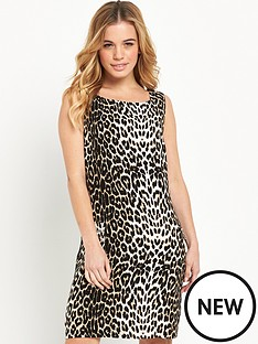 wallis-wallis-petite-animal-shift-dress