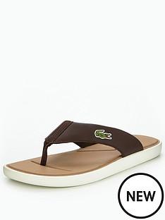 lacoste-lacoste-l30-116-2-toe-post-dk-brownoff-white