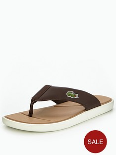 lacoste-lacoste-l30-116-2-toe-post-dk-brownoff-white