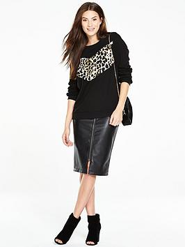 V By Very Animal Panel Sweat Top