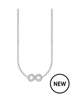 thomas-sabo-thomas-sabo-sterling-silver-diamond-set-infinity-necklace