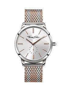 thomas-sabo-glam-spirit-silver-tone-dial-rose-accent-rose-striped-mesh-bracelet-ladies-watch