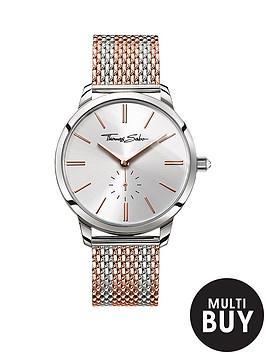 thomas-sabo-glam-spirit-silver-tone-dial-rose-accent-rose-striped-mesh-bracelet-ladies-watchnbspplus-free-diamond-bracelet