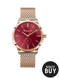 thomas-sabo-glam-spirit-red-dial-rose-tone-mesh-bracelet-ladies-watchnbspplus-free-diamond-bracelet